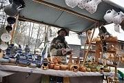 Tradiční Vánoční jarmark v Dřevěném městečku Valašského muzea v přírodě v Rožnově pod Radhoštěm; sobota 10. prosince 2016