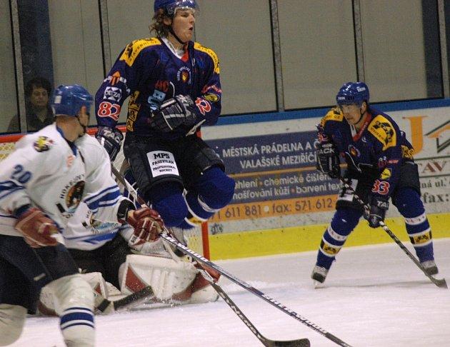 První domácí zápas hokejistů Valašského Meziříčí v sezoně 2008 - 2009 Bobři vs. Orlová