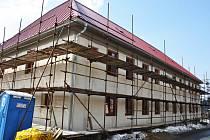 Valašská Bystřice, dokončovaný Charitní dům bude mít kapacitu 29 lůžek. Otevřen bude v polovině června 2012