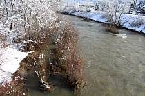 Prudké oteplení a srážky začátkem února 2019 zvedlo hladinu Bečvy až dvojnásobně. Zvýšený průtok byl patrný i v Bystřičce.