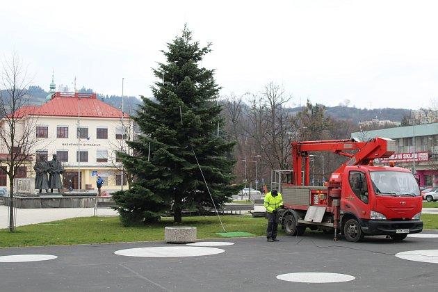 Letošní vánoční strom, který se rozsvítí 1.12.2017 na náměstí Svobody ve Vsetíně darovala městu paní Šafaříková z Hrbové.