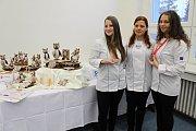 Studentky SOŠ Josefa Sousedíka Dominika Gutová, Petra Dudová a Eliška Filgasová (zleva) získaly stříbro a bronz na světovém poháru kuchařů a cukrářů v Lucembursku.