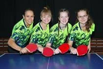 Lenka Glücková (první zprava) v loňském ročníku odehrála 46 zápasů ve dvouhře, přičemž dosáhla na 41 výher.