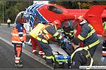 Tragická nehoda cyklisty a nákladního automobilu v obci Horní Bečva
