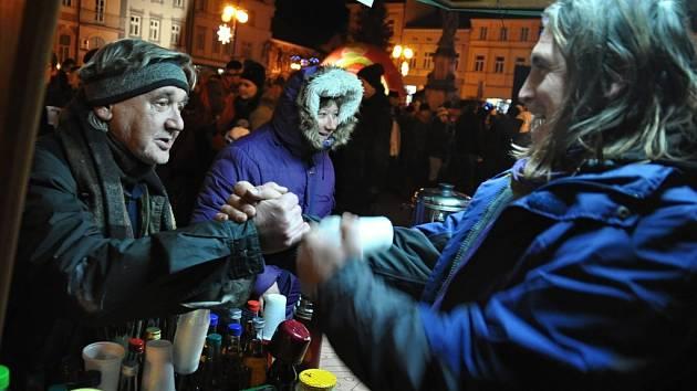 Silvestrovské oslavy na náměstí ve Valašském Meziříčí