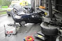 Těžká dopravní nehoda u Zašové.