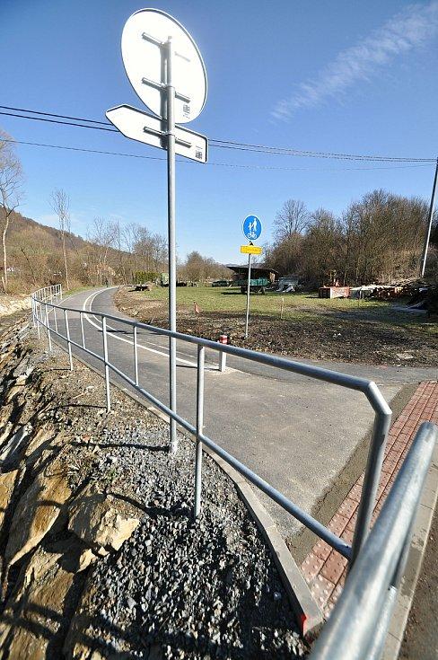 Leskovec - nová část cyklostezky BEVLAVA, která prochází obcí Leskovec.