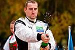 Vítězný pilot vsetínského rallysprintu Jaroslav Melichárek.