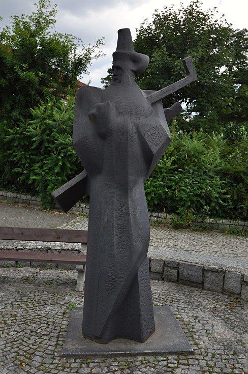 Vsetín - Památník obětem valašských povstání z let 1620 - 1644 jehož autorem je Zdeněk Němeček.