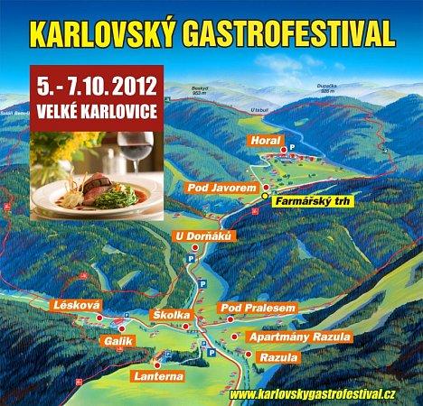 Gastrofestival - mapka