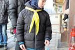 Betlémské světlo dorazilo na Valašsko. Vsetínští skauti ho vlakem přivezli v neděli 17. prosince 2017 ráno do Vsetína.