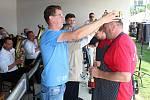 O titul gulášového krále soutěžilo v Ratiboři v sobotu 25. května 2019 sedmnáct týmů. Starosta Ratiboře Martin Žabčík pasuje nového gulášového krále Jiřího Čalu.