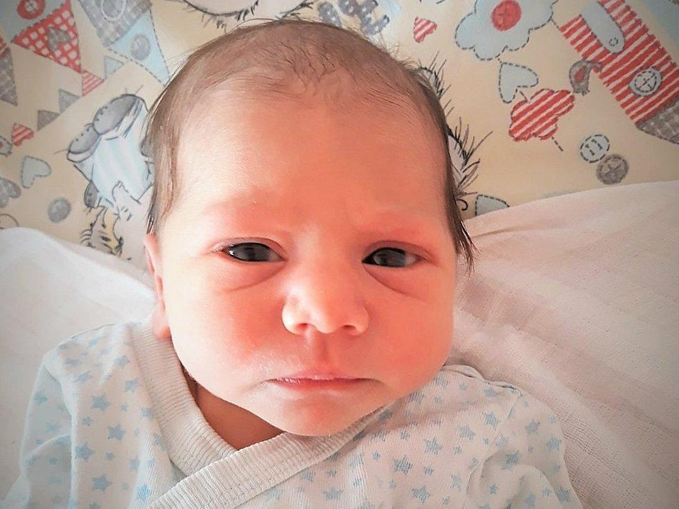 Dustin Dužda, Valašské Meziříčí, narozen 9. ledna 2021 ve Valašském Meziříčí, míra 48 cm, váha 2780 g