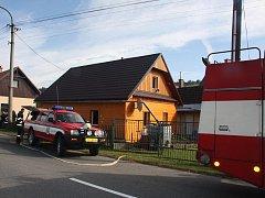 Požár kuchyně v celodřevěném domě v Novém Hrozenkově
