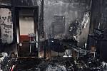 Zásah hasičů ve středu 5. února 2020 u požáru v domě s pečovatelskou službou ve Vsetíně