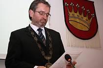 Nový starosta Valašského Meziříčí Robert Stržínek (ANO 2011); Valašské Meziříčí, čtvrtek 13. listopadu 2014