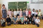 Základní škola Staré Město třída 1.C s třídní učitelkou Ivou Klimešovou.