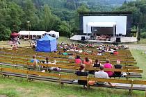 Letní kino v Bystřičce. ilustrační foto.