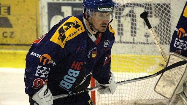 Hokejový útočník Valašského Meziříčí Robin Bacul.