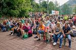 Diváci na 21. ročníku country festivalu Starý dobrý western na scéně U Mokrošů v Bystřičce na Vsetínsku. Festival se konal od pátku 2. srpna do neděle 4. srpna 2019