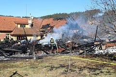 V pondělí 27. února dopoledne likvidovali hasiči požár stodoly a přilehlého domu v Hošťálkové u Vsetína.