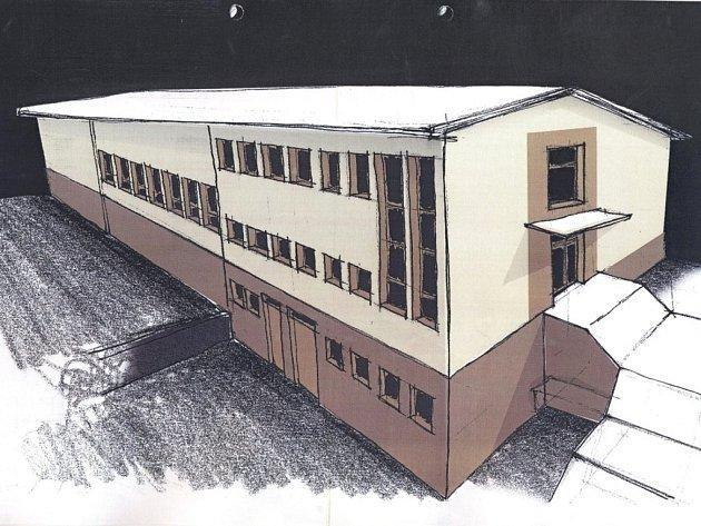 Výsledná podoba kulturního domu ve Střelné po probíhajících opravách.