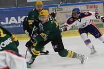 Hokejový zápas mezi Litoměřicemi a Vsetínem