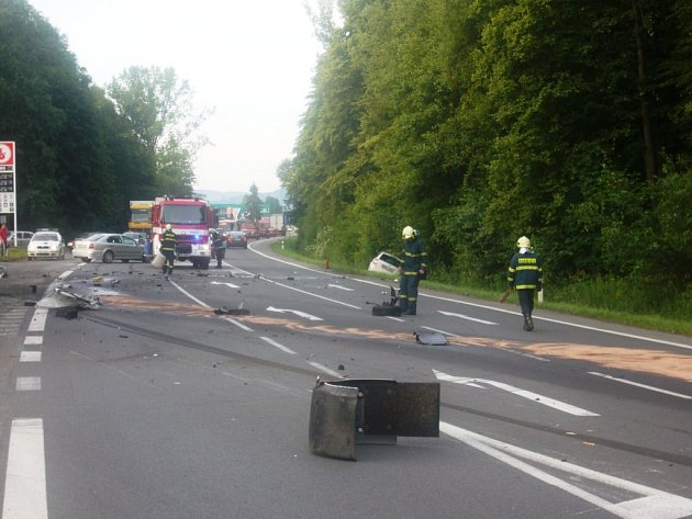 Vážná dopravní nehoda se stala ve Valašském Meziříčí.