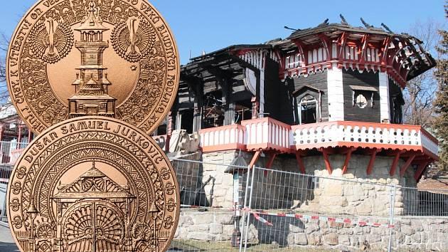 Na opravu Libušína. Obě strany zobrazují historické plány architekta Dušana Jurkoviče.