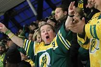 Fanoušci hokejového Vsetína