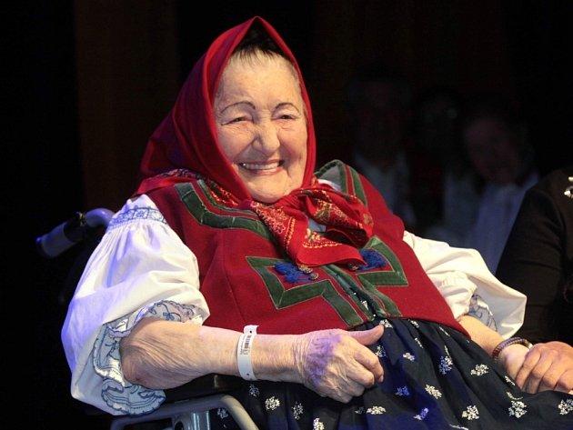 Slavnostní koncert k 85. narozeninám Jarmily Šulákové v Domě kultury ve Vsetíně.