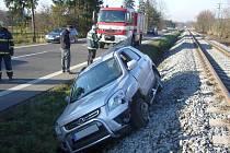 Havárie osobního auta u Zašové
