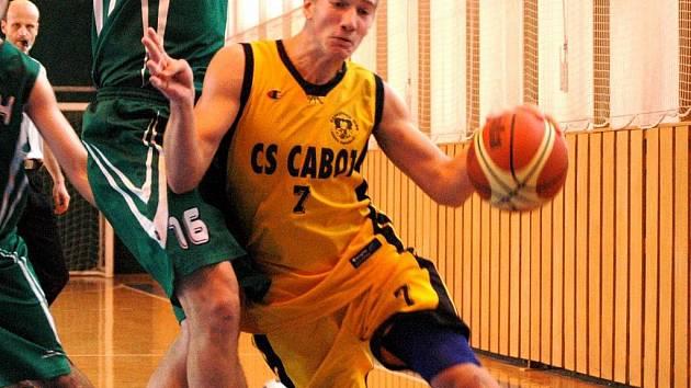 Basketbalista Valašského Meziříčí Martin Václavek.