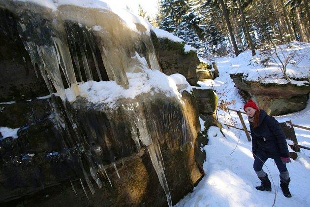 Ledopády v Pulčinských skalách.