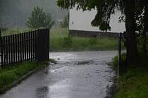 Silná průtrž mračen se prohnala ve středu 5. června 2109 také Bystřičkou.