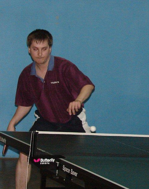 Petr Slováček uhrál v Brušperku nejvíce ze V setínských hráčů - dva body. Na úspěch to ale tentokrát nestačilo.