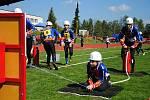 Soutěž mladých hasičů na letním stadionu ve Valašském Meziříčí