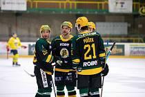 Hokejisté Vsetína v úvodním zápase předkola play-off proti Ústí nad Labem.