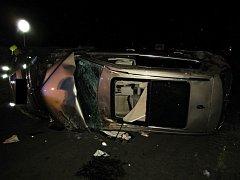 Nehoda osobního vozu Volkswagen v Lešné