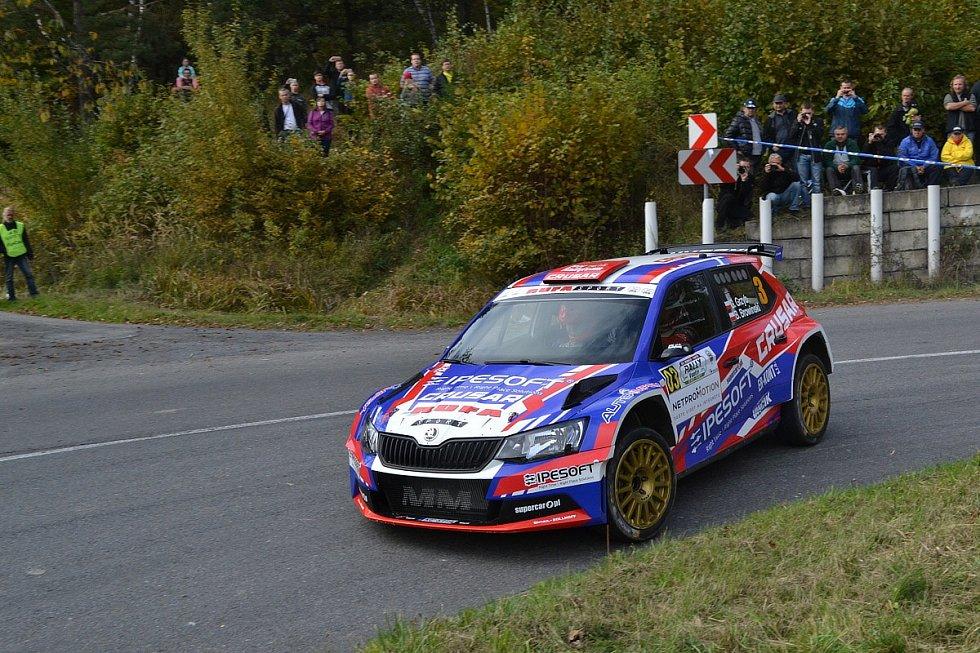 Vítěz vsetínské Bonver Partr Rally Vsetín 2017  - posádka Grzerorz Grzyb  - Browiňski Boguslaw z Polska.