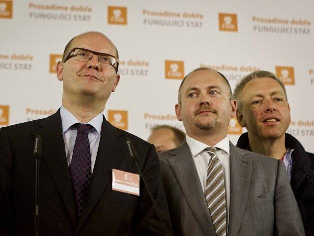 Bohuslav Sobotka a Michal Hašek. Ilustrační foto.