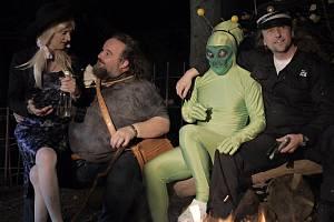 Natáčení videoklipu k písni Mimozemšťan valašské rockové kapely STRAM.