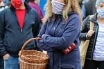 První farmářské trhy po uvolnění vládních omezení se uskutečnily ve Vsetíně v sobotu 16. května 2020.