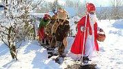 Mikulášská obchůzka v Pulčíně, nejvýše položené obci na Vsetínsku
