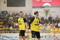 Házenkáři Zubří (ve žlutých dresech). Ilustrační foto