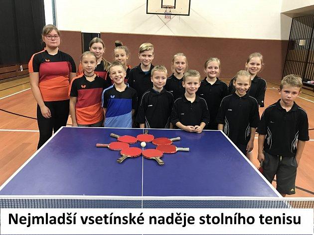 Mladí talenti vsetínského stolního tenisu