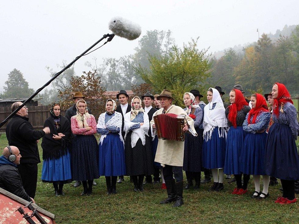 Natáčení filmu Děda ve Valašské Polance.