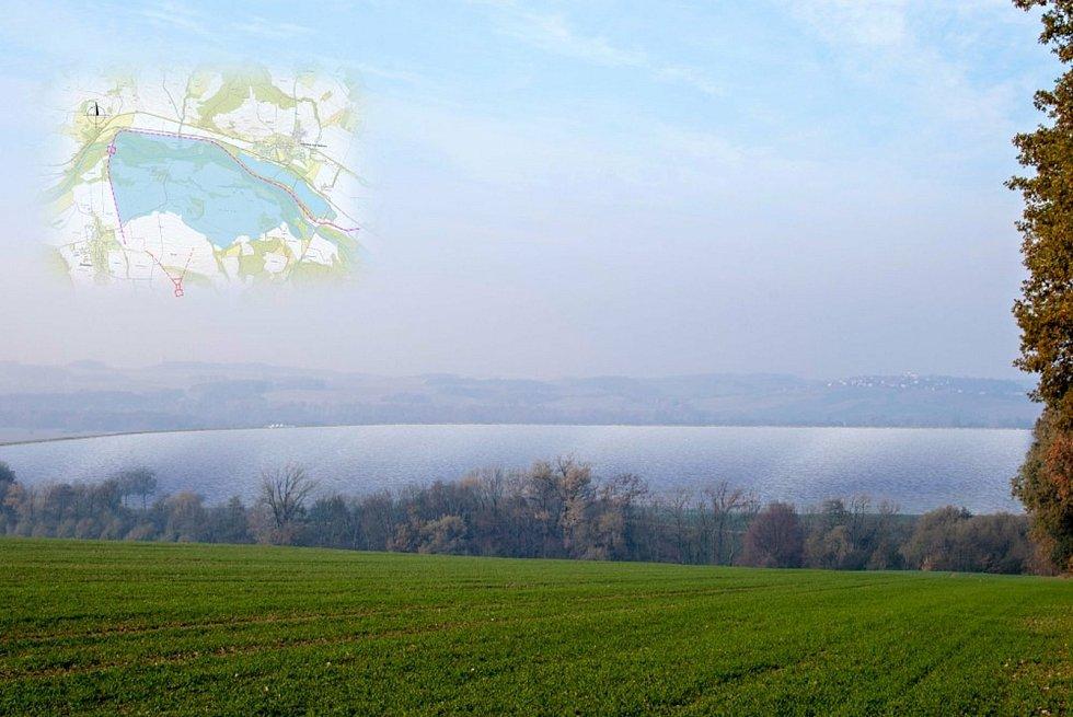 Vizualizace možného budoucího Vodního díla Skalička.