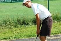 Hráč rožnovského Valašského golfového klubu Petr Zíma junior.