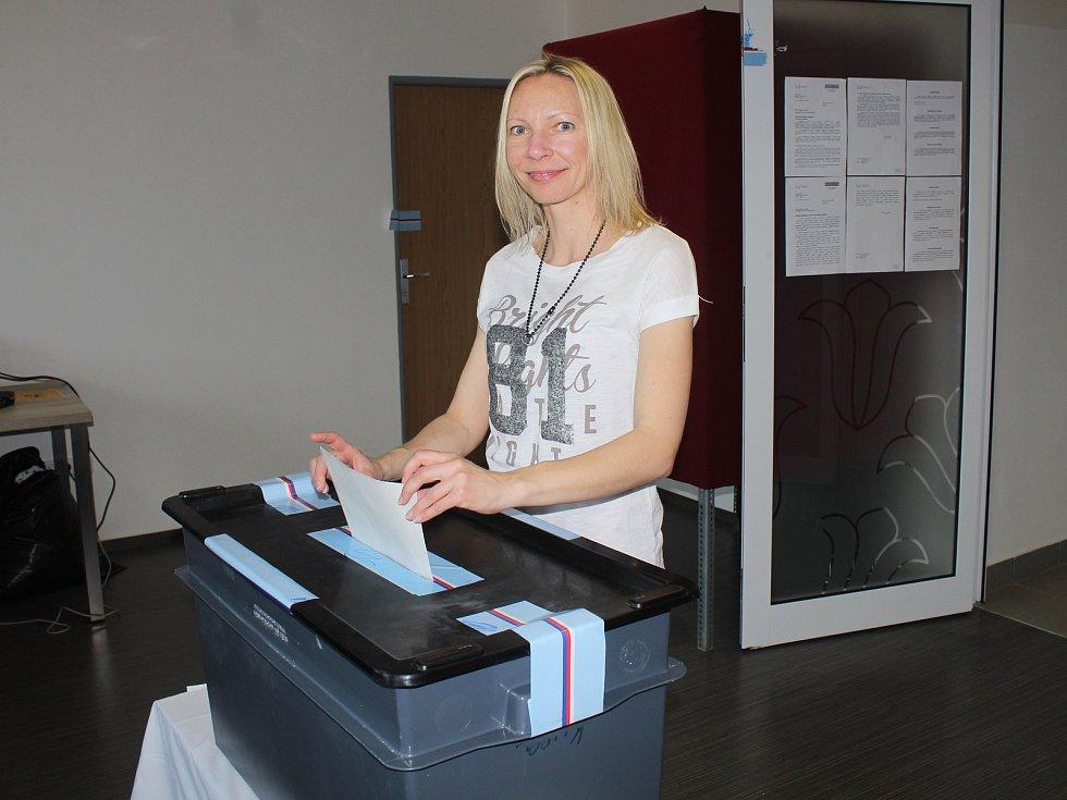 Do Evropského parlamentu přišla v sobotu dopoledne 25. května 2019  volit v Ratiboři také Ina Valchářová.